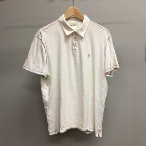John Varvatos Men's White Polo